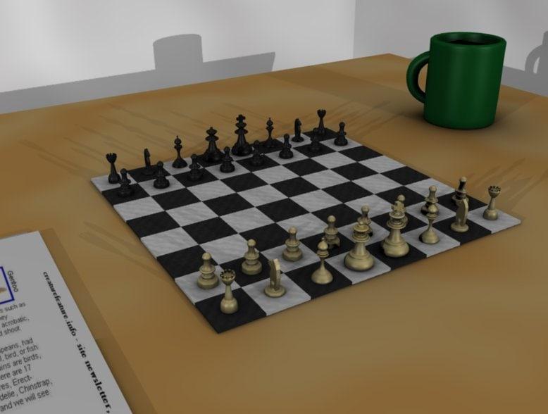chessboard 3d blend