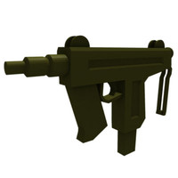 3ds max compact submachine gun