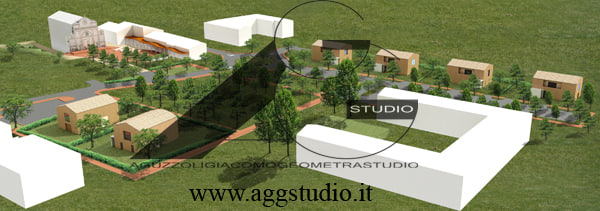 3d model small town cortile carpi