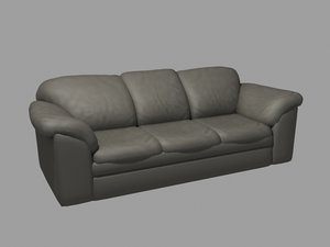 old chair leather couch 3d max