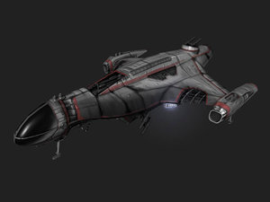 3d model dropship ship