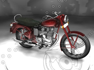 3ds max bullet enfield bike