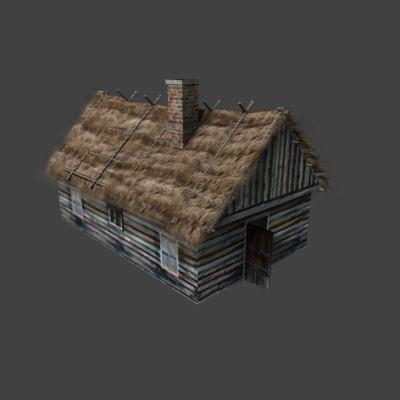 3d model old farmhouse