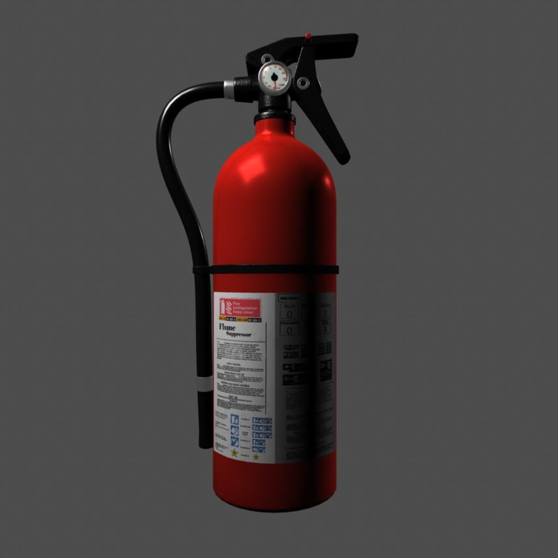 extinguisher shaders 3d model