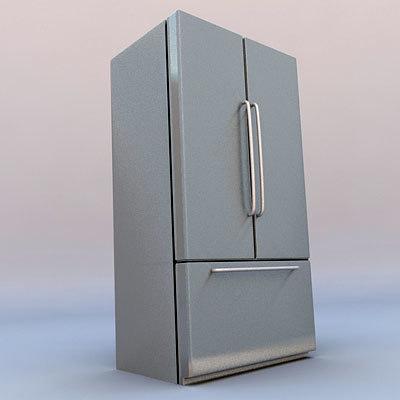 two-door refrigerator freezer 3d c4d