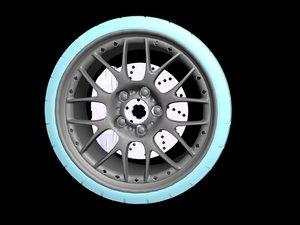 3d rim tire bbs model