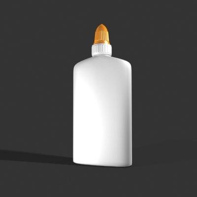 3d model glue bottle