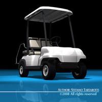 3d model 4 seats golf cart
