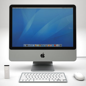3d apple imac 4 wireless