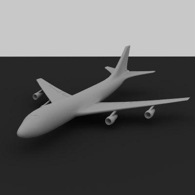 3d 747 plane