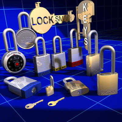 3dsmax locks keys sign 01