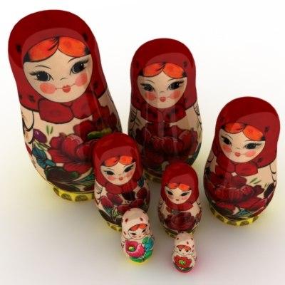 3d model matrioschka doll