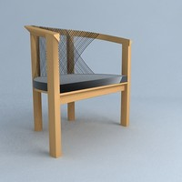 3d model njh easy chair