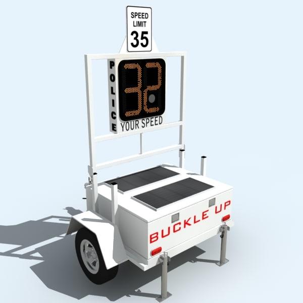 3d 3ds police radar trailer