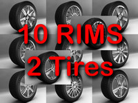 rims tires wheel 3d model