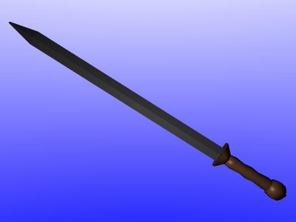 free roman gladiator 3d model