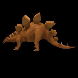 dinosaur stegosaurus 3d model