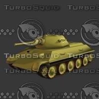 3d russian t34 76 tank model