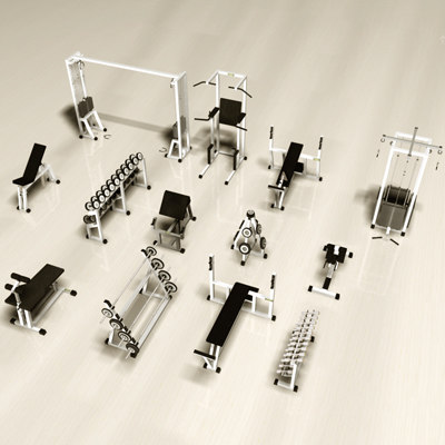 3d max gym equipment
