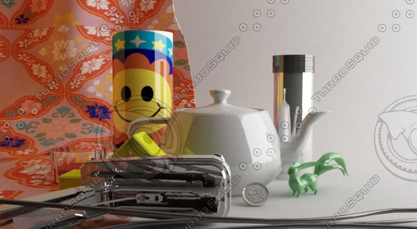 3ds max cup metal teapot