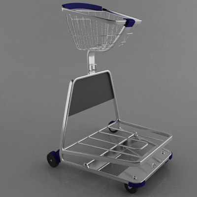 trolley shops 3d model