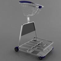 trolley shops 3d model