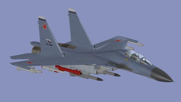 3dsmax su-30mkk superflanker flanker