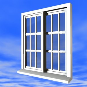 3d model exterior window