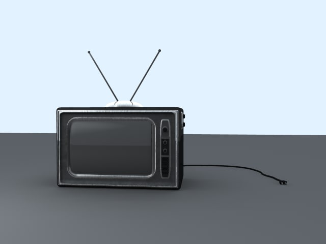 3ds max classical television set