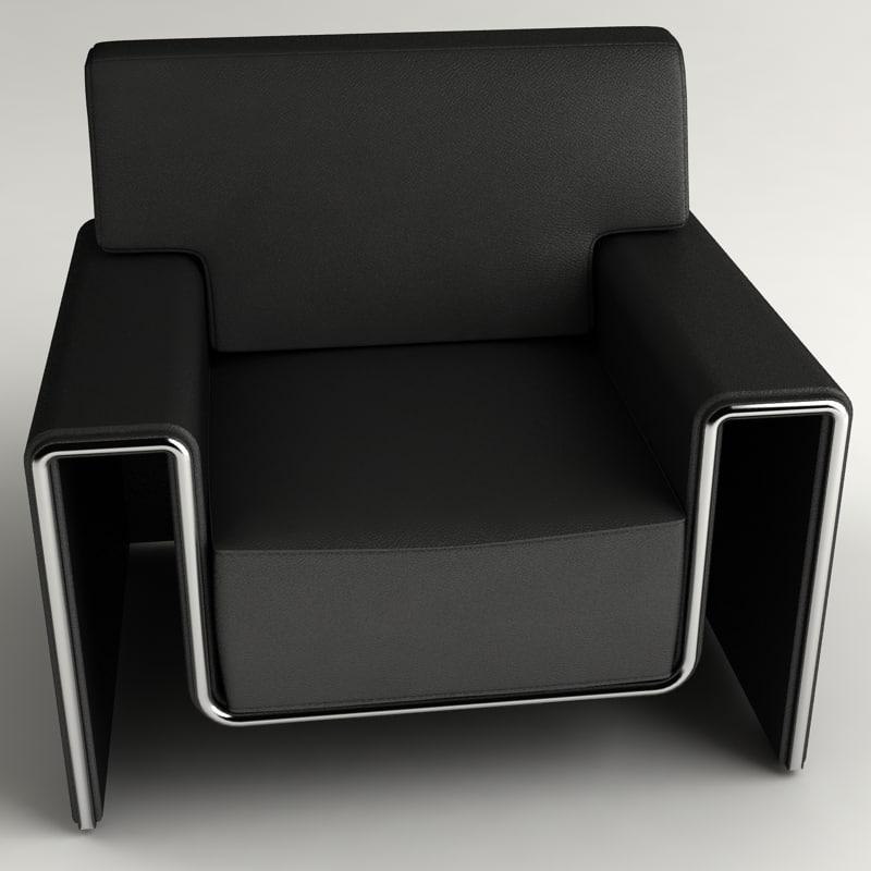 design leather armchair 3d model