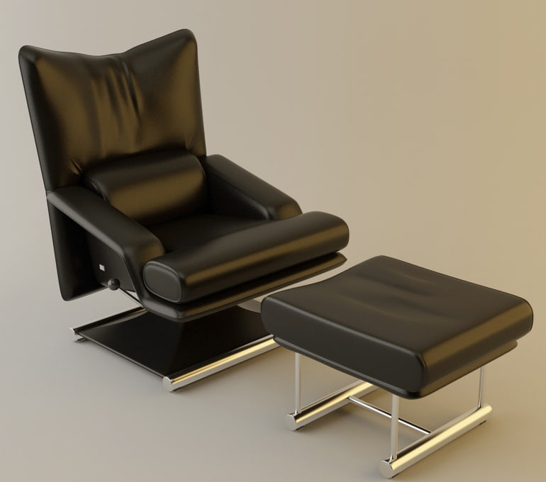 6500 armchair 3d max