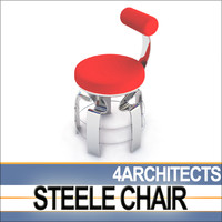 dynamic steele chair design 3d lwo