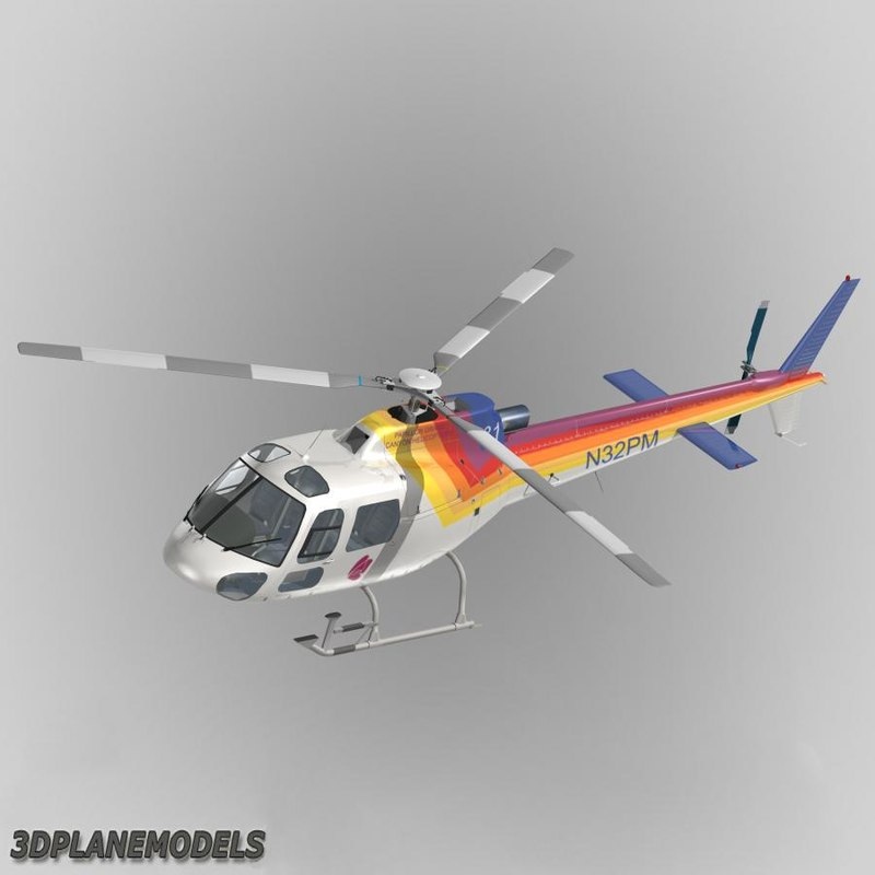 eurocopter papillon grand canyon 3d obj