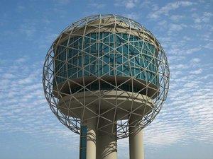 3d reunion tower dallas model