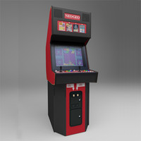 neo-geo stand-up arcade unit 3d max