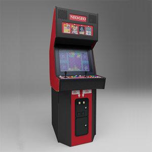 neo-geo stand-up arcade unit 3d max