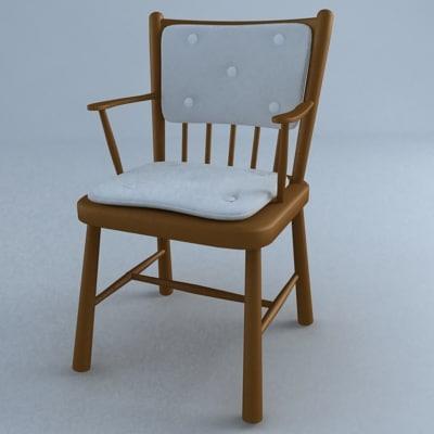 3d armchair sveinn kjarval model