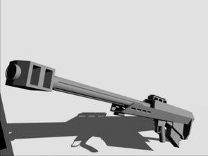 3d 50 cal sniper rifle model