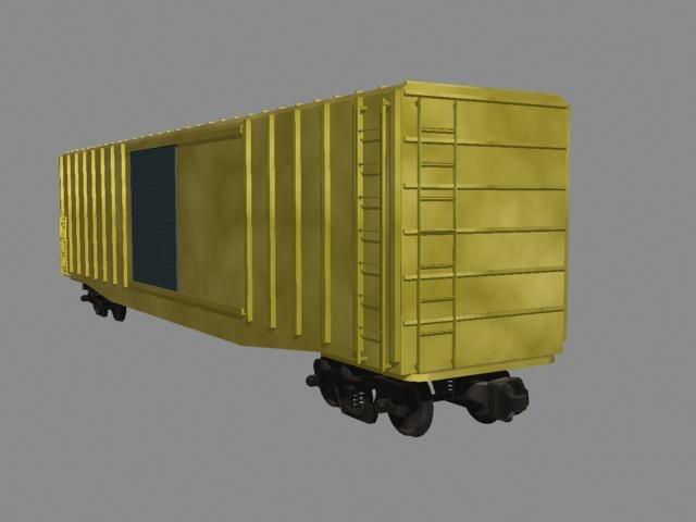 3d railroad boxcar freight model