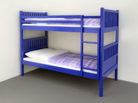 Bunk beds with pillows and sheets
