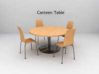 3d model wood canteen office table