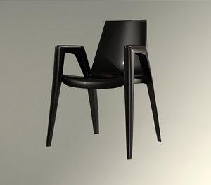 3d modern armchair chair bellini model