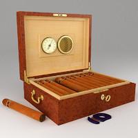 cigars humidor 3d model