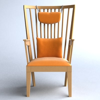 3ds max easy chair