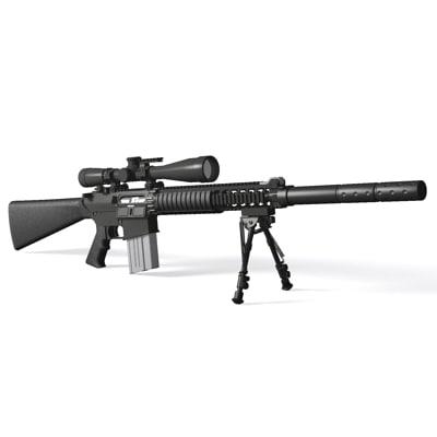 3d sr-25 sniper rifle