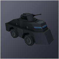 3ds max scout car vehicle