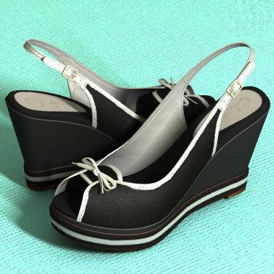 womans sandal 3d max