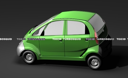 3d model of tata nano car