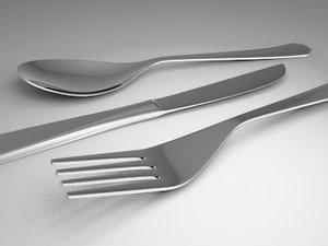 eating utensils 3d 3ds