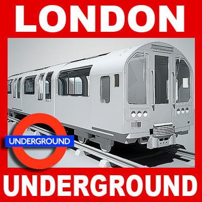 3ds max london underground train station